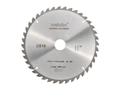 LIST TESTERE HW/CT 216X30-40 WZ 5